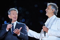 David Foster joins tenor Andrea Bocelli in a free concert on Central Park's G...