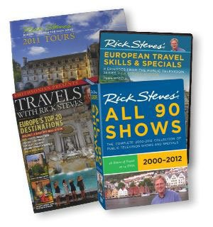 "Join or renew at the $150 level during our Membership Campaign and receive a Rick Steves DVD combo including a ""Rick Steves' 90 Show"" DVD anthology, a ""Travel Skills"" DVD (4hrs), plus the Smithsonian magazine and 2012 tour news."
