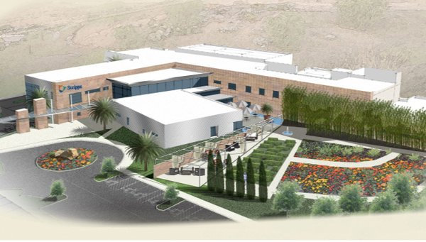 An artist's rendering of the Scripps Proton Therapy Center.