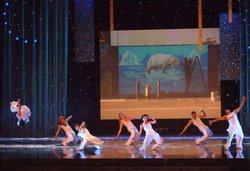 "Antics Performance with their hip hop remix of the ""Snow Scene."""