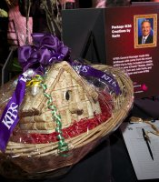 The silent auction tables featured more the 30 fantastic packages.  Thanks for your bids to support KPBS.