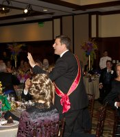 "Host of PBS' ""Antiques Roadshow"" Mark L. Walberg was our event emcee."