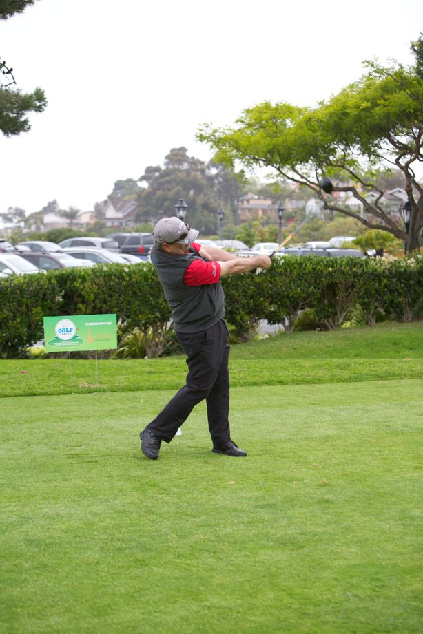 General Manager takes a swing!