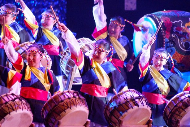 "The Jung Im Lee Korean Dance Academy performs ""One Drum."""