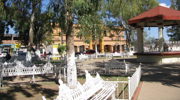 Naco's main plaza.
