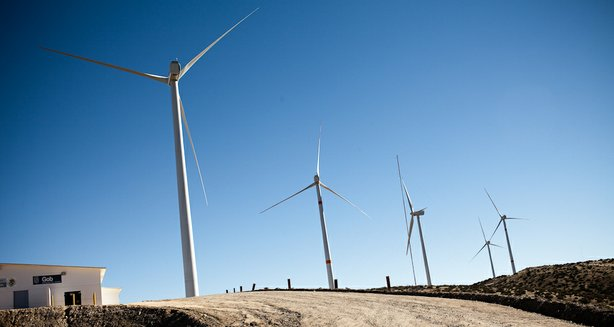 With the new leasing rules, Native Americans hope to develop renewable energy projects like this wind farm in the Mexican state of Baja California.