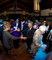 Gala guests dancing the night away.