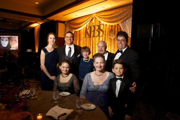 The evening included a touching tribute to KPBS' Gloria Penner.  Gloria's family and friends attended the event.  Top row, left to right:  Jenn & Steve Penner, Linda & Ed Janon, Brad Penner.  Bottom row, left to right:  Alex, Dyana and Elijah Penner.