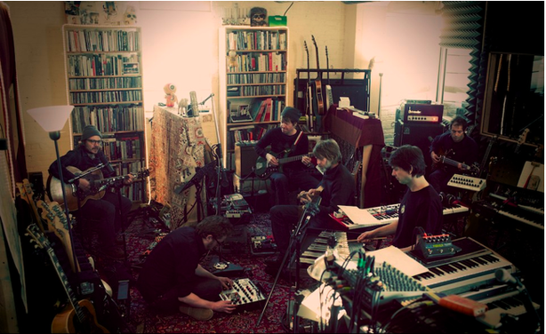 Wilco recording their new album in The Loft earlier this year.