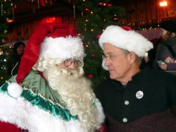 Father Christmas and Joseph Rosendo in Rocher-de-Naye, Montreux from
