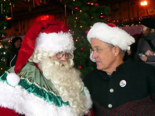 "Father Christmas and Joseph Rosendo in Rocher-de-Naye, Montreux from ""Christmas In Switzerland."""
