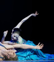 "Yuan Yuan Tan (Mermaid) and Tiit Helimets (The Prince) in ""The Little Mermaid from San Francisco Ballet."""