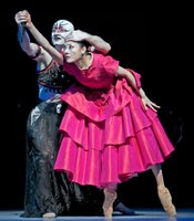 "Davit Karapetyan (The Sea Witch) and Yuan Yuan Tan (The Mermaid) in ""The Little Mermaid from San Francisco Ballet."""