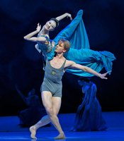 "Yuan Yuan Tan (The Mermaid) and Tiit Helimets (The Prince) in ""The Little Mermaid from San Francisco Ballet."""