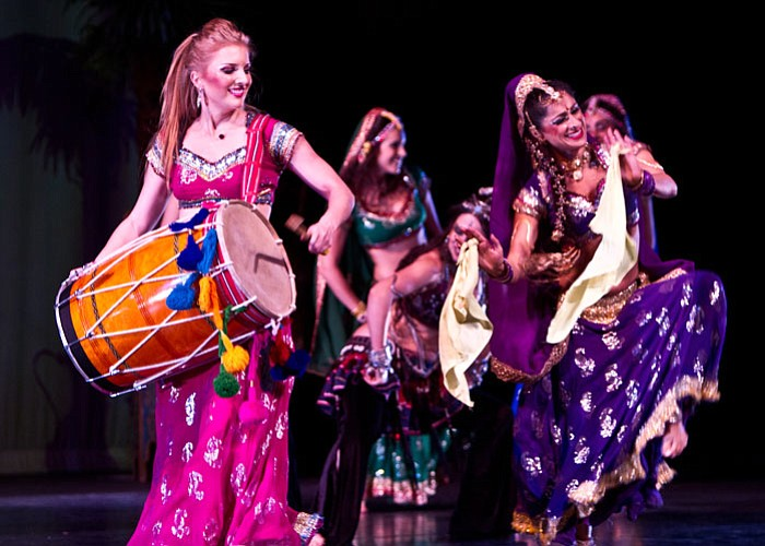 The Bellydance Superstars perform on stage, Irv... ()