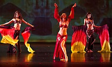 The Bellydance Superstars perform on stage, Irv... (13567)