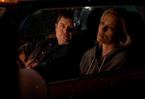 "Patton Oswalt and Charlize Theron star in ""Young Adult."""