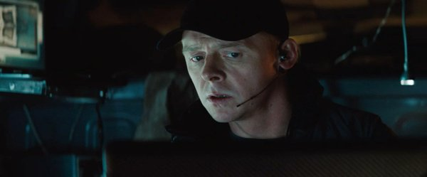 "Simon Pegg having fun and getting the job done in ""MI4."""