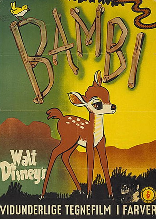 "Poster for the Disney film ""Bambi."""