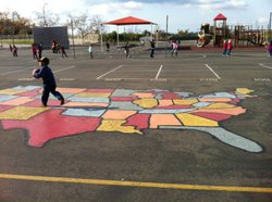 A child plays in the playground of Chula Vista's Thurgood Marshall Elementary...
