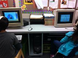 Second graders at Thurgood Marshall Elementary School in Chula Vista practice...
