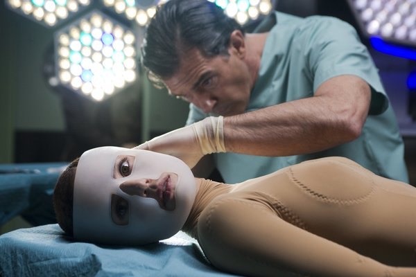 "Antonio Banderas and Elena Anaya in Pedro Almodovar's ""The Skin I Live In."""