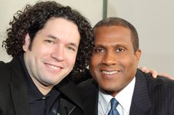 LA Phil's charismatic conductor, Gustavo Dudamel with host Tavis Smiley