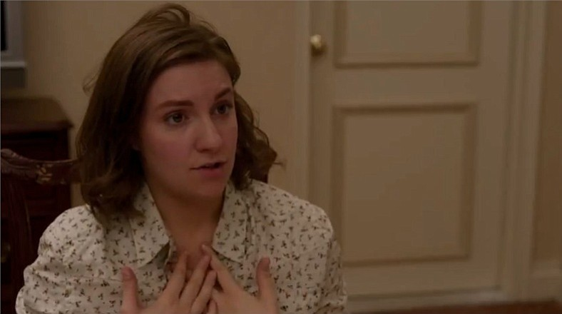 Lena Dunham as a twenty-something considering her role as the voice of her ge...