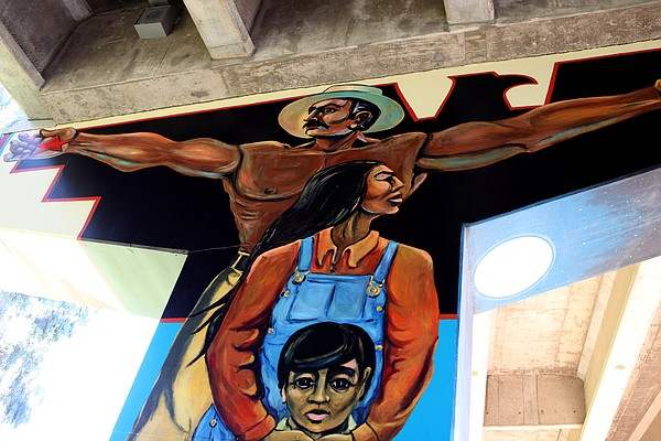 Mural in Chicano Park.