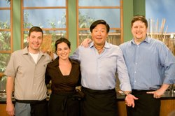 In season nine, Ming Tsai (3rd from left) takes viewers behind-the-scenes to meet his James Beard Award-winning Blue Ginger team including general manager Daniel Adelson, pastry chef Michele Fadden and executive chef Jonathan Taylor.
