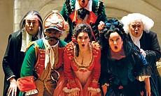 "The cast of ""The Barber Of Seville."""