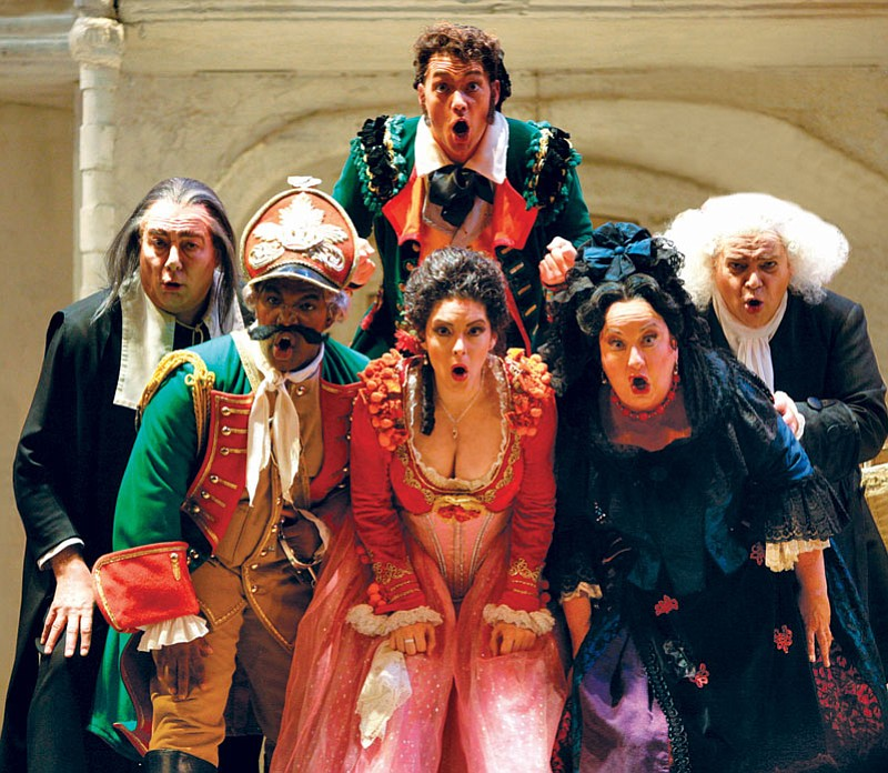 "The cast of ""The Barber Of Seville."" ()"