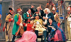 "Performance photo of the cast of ""The Barber Of Seville."""