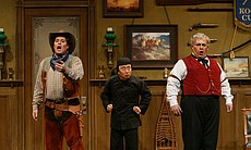 "Performance photo of the cast from ""Don Pasquale."""