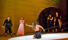"Performance photo of the cast from ""Salome."""