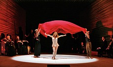 Salome, played by Lise Lindstrom, performing the sensuous Dance of the Seven ...