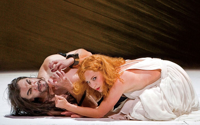 Performance photo of Greer Grimsley as the noble John the Baptist with Lise L...