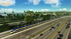 An artist's rendering of the high-speed rail.