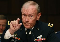 U.S. Army Gen. Martin Dempsey, Chairman of the Joint Chiefs of Staff, speaks during a Senate Armed Services Committee hearing on November 15, 2011 in Washington, DC.