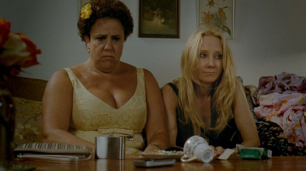 "Marcia DeBonis and Anne Heche in ""That's What She Said."""