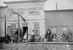 Zimmerman's, a hardware store in Dodge City, Kansas, circa 1870s. Wyatt Earp'...