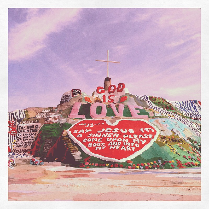 Salvation Mountain, a large-scale artwork by artist Leonard Knight, is locate...