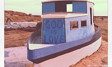 A boat painted by Leonard Knight at Salvation M...