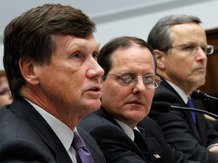 n December, Freddie Mac CEO Charles Haldeman (left), FHFA Acting Director Edw...