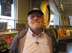Dwight Detter of Whole Foods, who helped Mike Hanes bring his hot sauce to ma...
