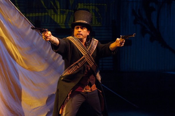 "Richard Montoya in ""American Night: The Ballad of Juan José,"" which runs through February 25 at the La Jolla Playhouse."