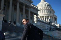 U.S. Rep. Darrell Issa (R-CA) walks up the steps of the U.S. Capitol on Novem...