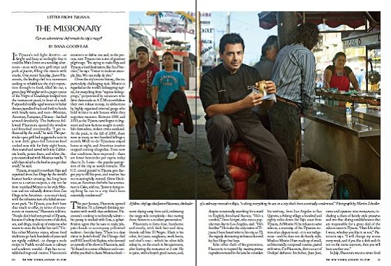 Chef Javier Plascencia featured in The New Yorker, January 30, 2012.