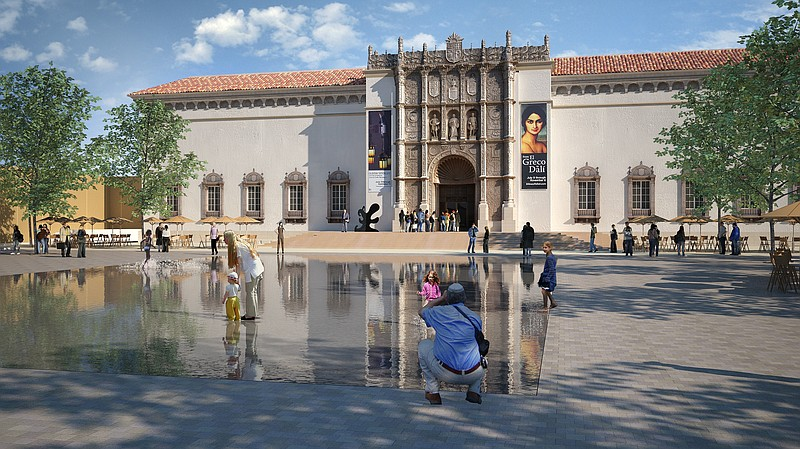 A rendering of the proposed Plaza de Panama project.  This view faces the San...