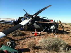 On Nov. 15, 2011 Jeff Boatman's helicopter crashed near Valle, Ariz.